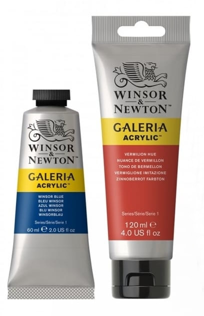 60ml and 120ml Galeria Acrylic paint tubes